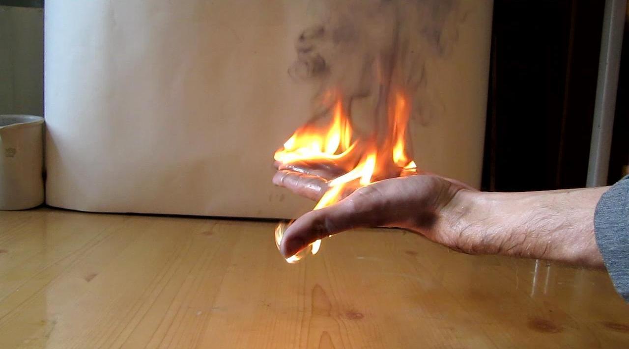 Как сделать холодный огонь в домашних условиях