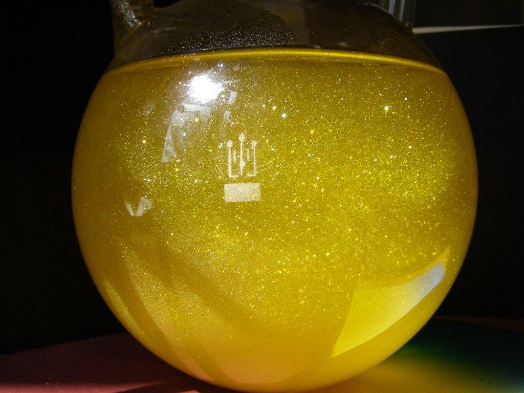 Золотой дождь - осаждение иодида свинца PbI2