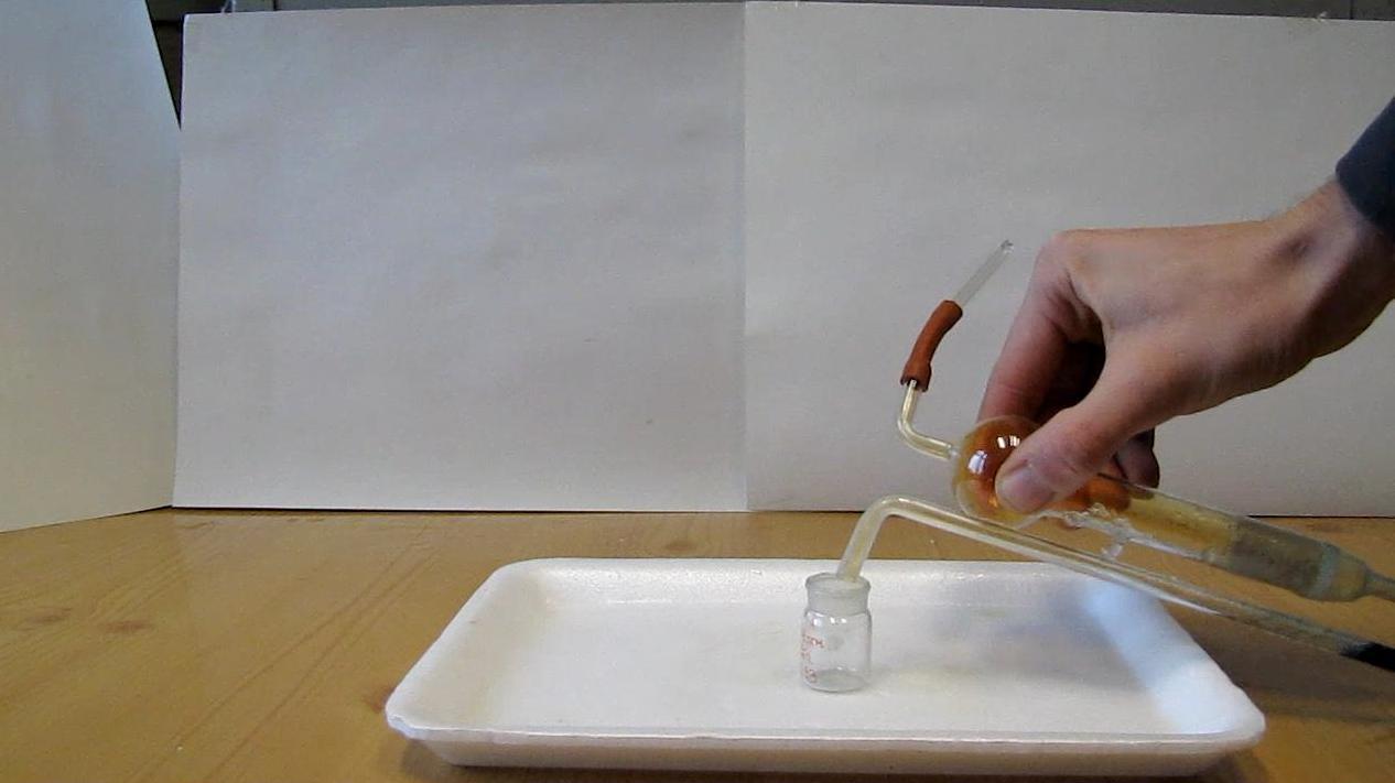 Кипение жидкого диоксида азота