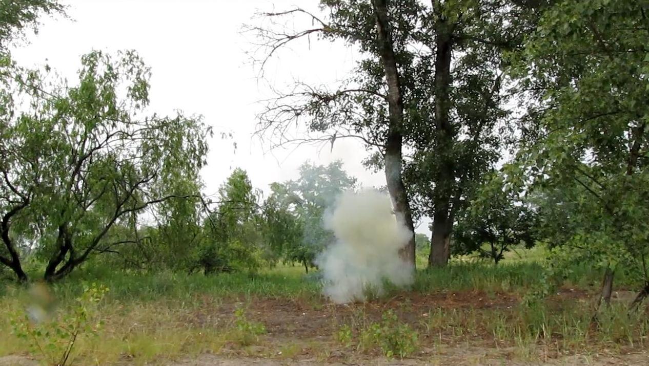 Взрыв смеси перманганата калия и алюминиевой пудры