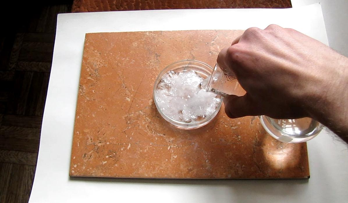 Кристаллизация ацетата натрия