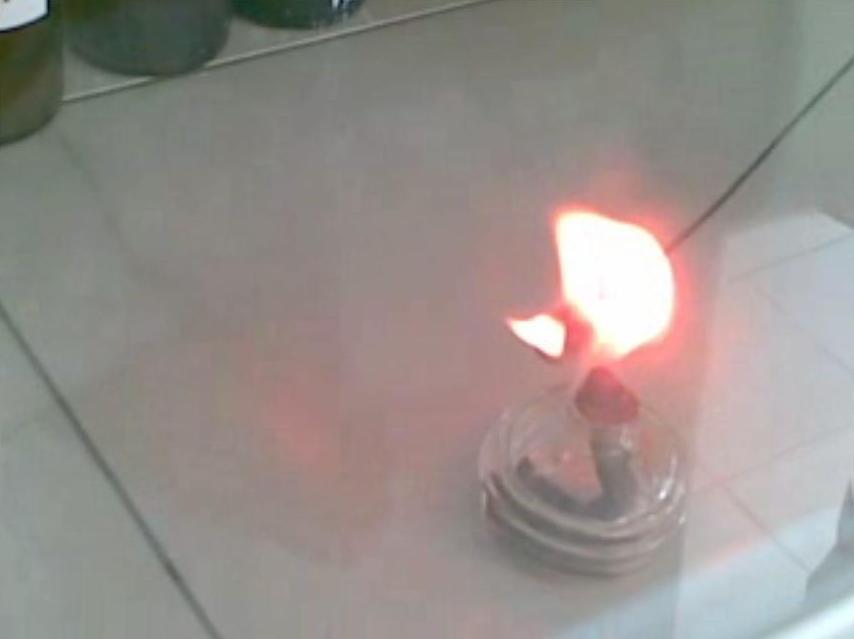 Горение металлического лития