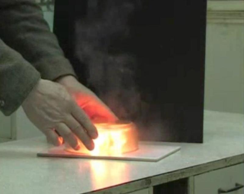 Самовоспламенение раствора фосфора в бензоле