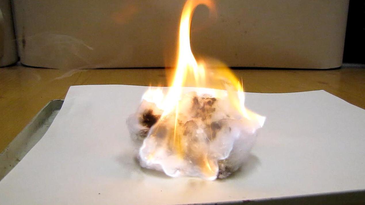 Самовоспламенение раствора фосфора в циклогексане
