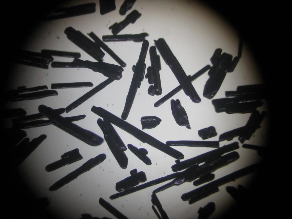 Перманганат калия под микроскопом