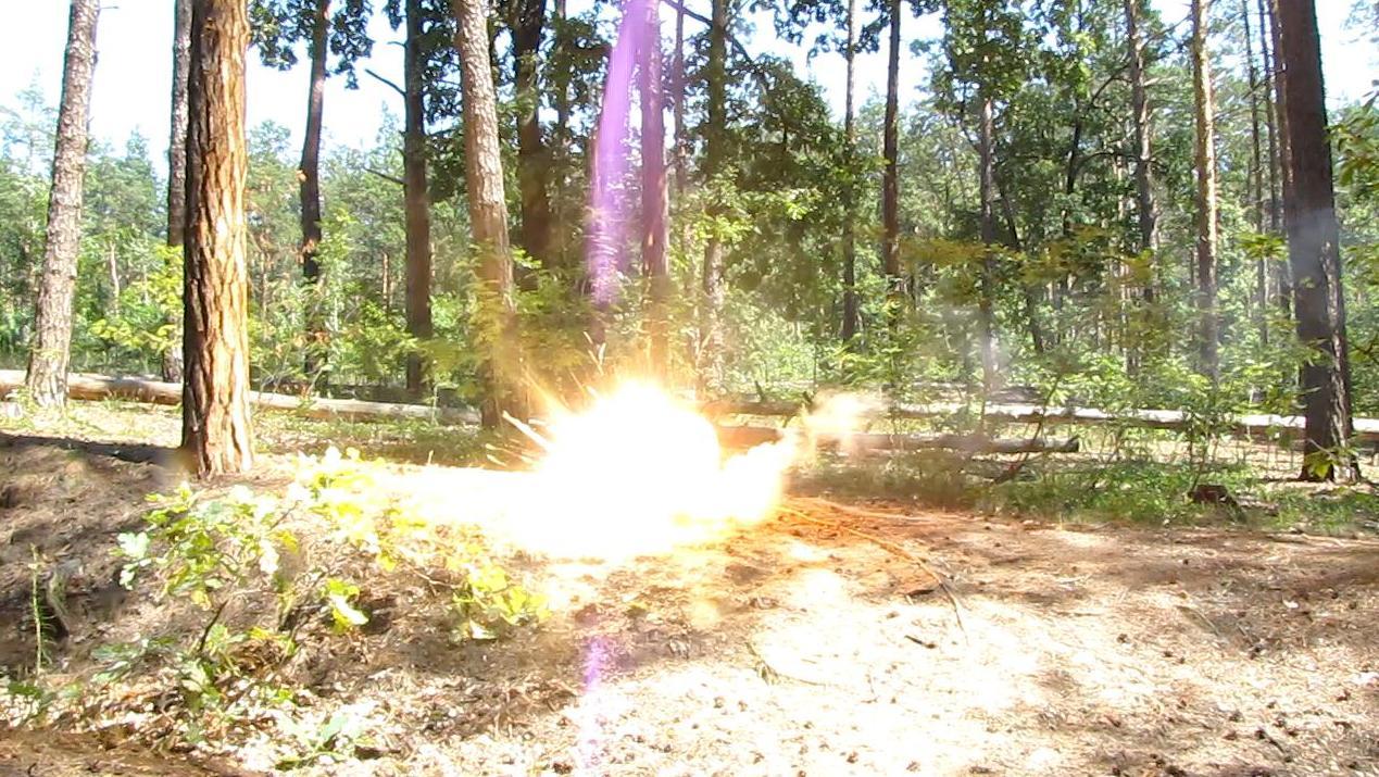 Взрыв смеси перманганат калия - алюминий