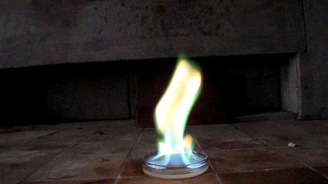 Горение - метиловый эфир борной кислоты