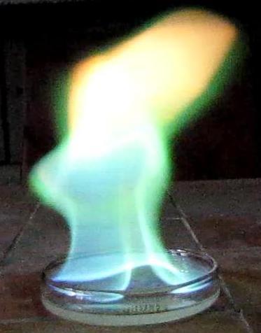Холодное пламя (метиловый эфир борной кислоты)