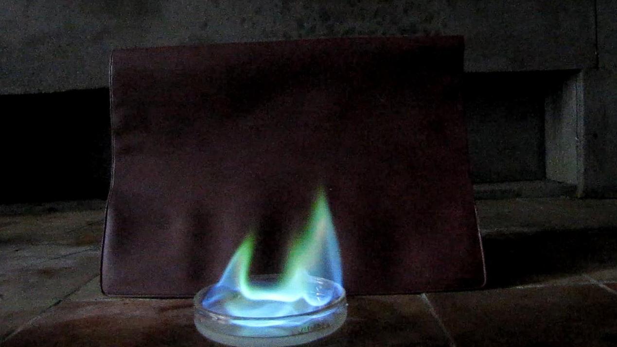 Горение - этиловый эфир борной кислоты