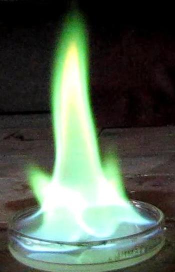 Холодное пламя (этиловый эфир борной кислоты)